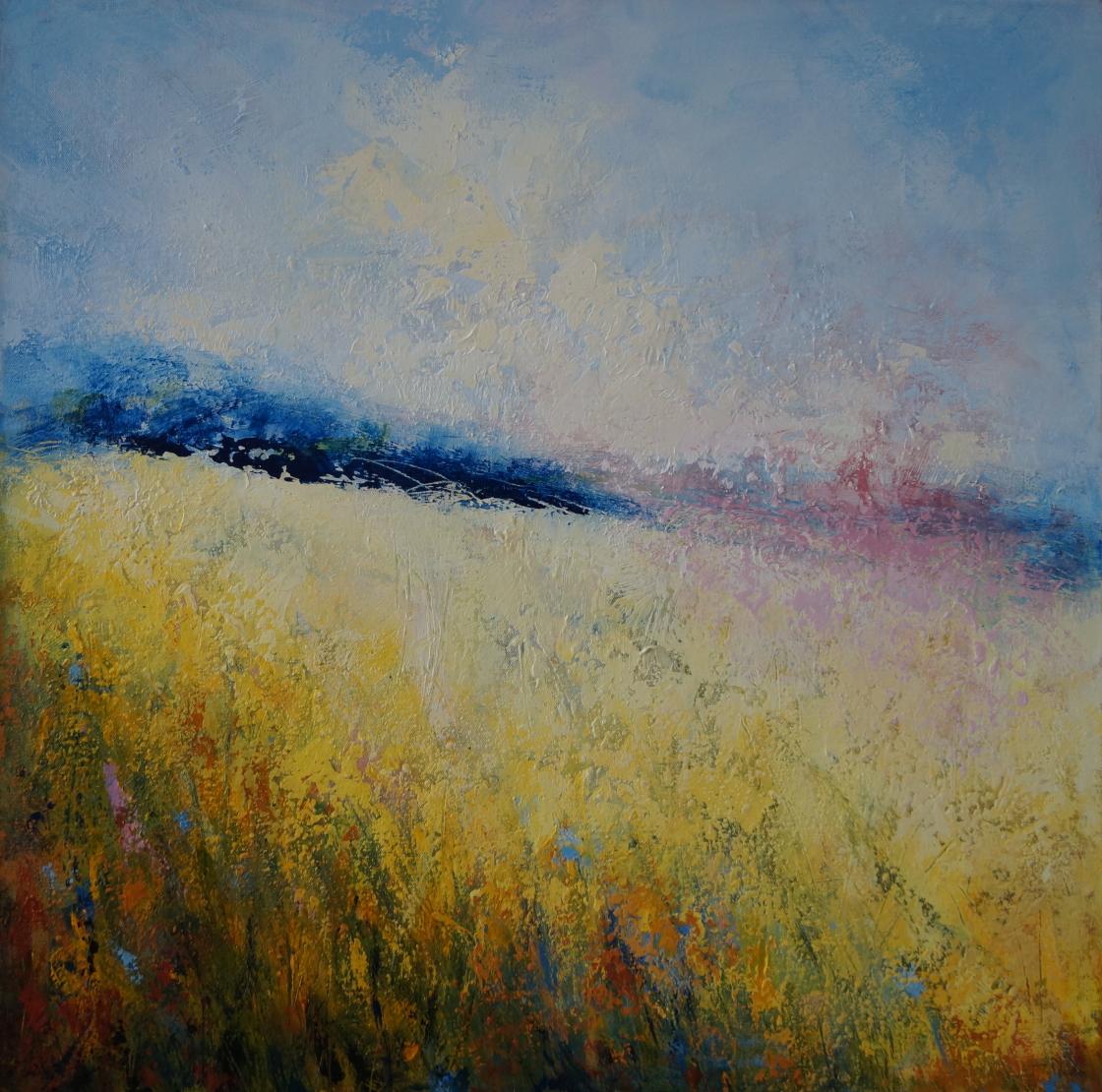 Creamy Sky and Summer Meadow 79 x 79cm