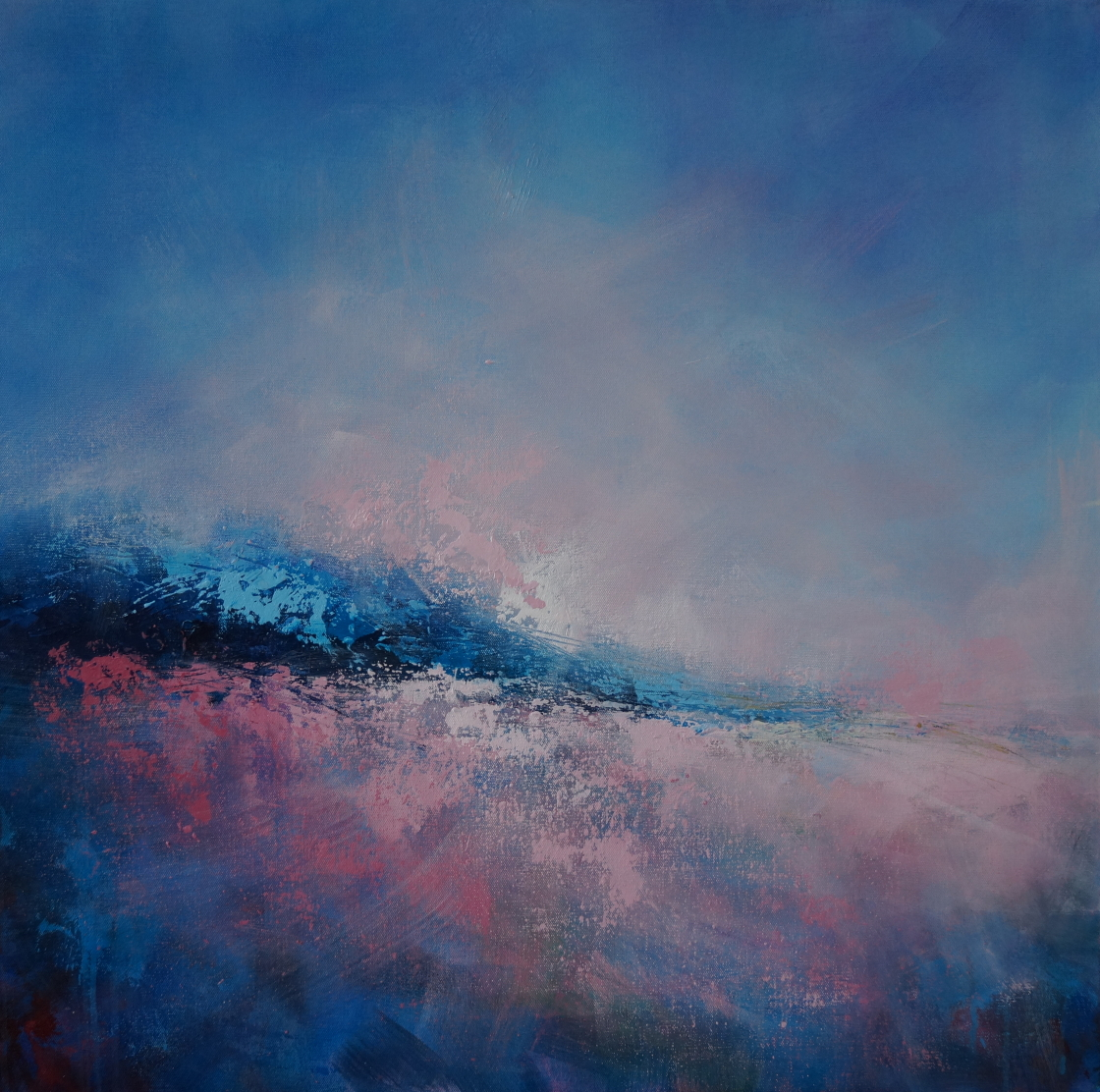 Seascape with Pink Dawn 79 x 79cm