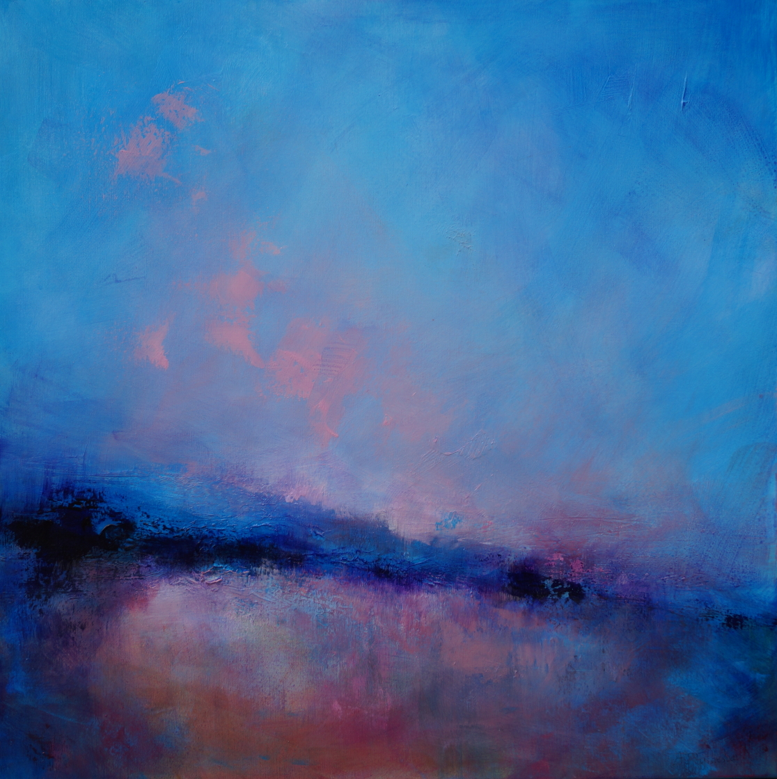 8 Seascape with Pink Clouds 79 x 79cm